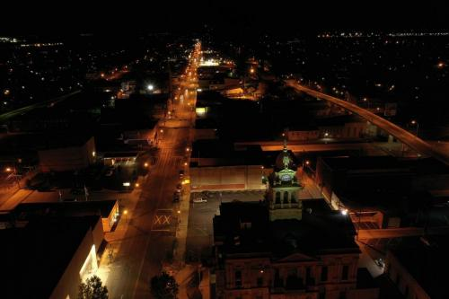 Downtown Marion Ohio at night